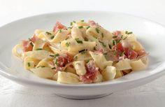 Seizoenspasta: asperges met ham