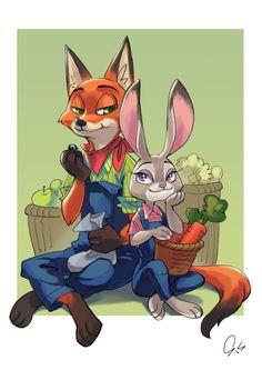 Zootopia - Nick Wilde x Judy Hopps - Wildehopps Walt Disney, Disney Films, Cute Disney, Disney And Dreamworks, Disney Pixar, Fruit Cartoon, Cartoon As Anime, Cartoon People, Cartoon Movies