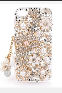 Bedazzled iPhone case! Normally don't like the chunky stuff but too cute