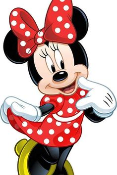 Minnie Mouse is an anthropomorphic mouse created by Walt Disney. She is the girlfriend of Mickey. Mickey Minnie Mouse, Mickey Mouse E Amigos, Mickey Mouse And Friends, Minnie Mouse Drawing, Minnie Mouse Clipart, Baby Mickey, Retro Disney, Art Disney, Disney Love