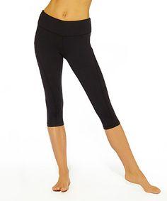 Look what I found on #zulily! Black Tummy Control Capri Leggings - Women #zulilyfinds