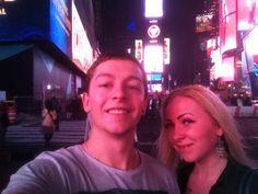 Times Square NY with the girlfriend nov 2015