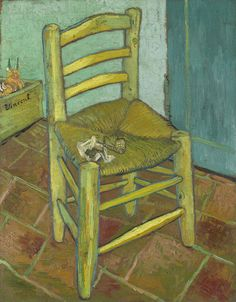 Vincent's Chair with His Pipe. Van Gogh. December 1888. Arles. Oil on canvas, 92 x 73 cm. National Gallery. London.