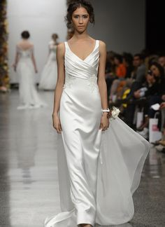 Simple Wedding Gown :: Fashion Week 2012 Bridal Collection