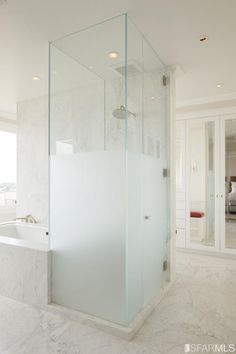 Etonnant Master Bath Semi Frosted Glass   Google Search · Half Glass Shower WallFrosted  ...