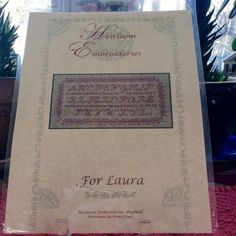 Heirloom Embroideries England Sampler Cross by TheLavenderPathHome