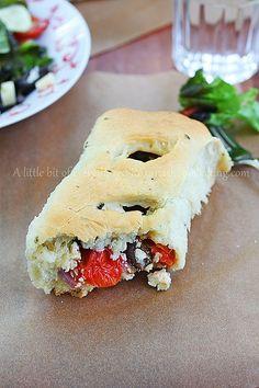 Greek Salad Rolls #baking #bread #dinner