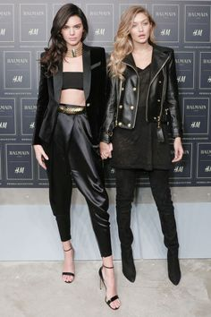 Kendall Jenner and Gigi Hadid celebrate the Balmain and H&M collaboration: