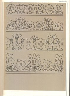 (5) Gallery.ru / Фото #40 - Slovenska ludova vysivka - Helena10 Floral Embroidery Patterns, Folk Embroidery, Applique Patterns, Vintage Embroidery, Cross Stitch Embroidery, Quilt Patterns, Machine Embroidery, Embroidery Designs, Arte Popular