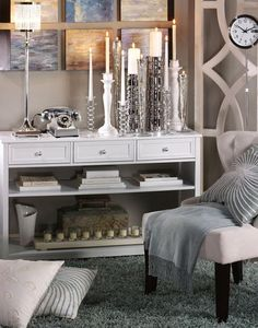 Oxford Three-Drawer Console Table with Open Storage - Console Table - Console Tables - Living Room | HomeDecorators.com