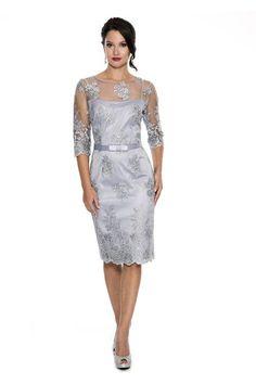 EMMA STREET ES751 Short Dress, Color Steel