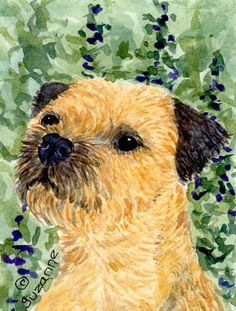 Border Terrier 2-Sided Garden Flag