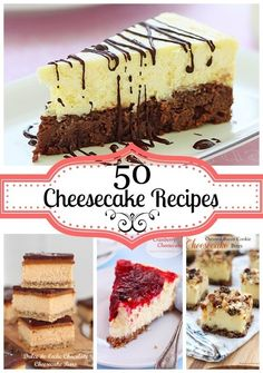"""A collection of 50 cheesecake recipes. This round-up is put together as a resource for all cheesecake lovers. Please take the time to visit each blogger and check the recipes on their blogs. Thank you!"" http://bit.ly/1dOizhv"