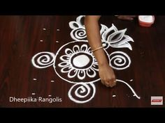 latest small kolam design for beginners with dots * easy & simple rangoli design * lotus muggulu Rangoli Designs Latest, Latest Rangoli, Rangoli Designs With Dots, Rangoli Designs Diwali, Beautiful Rangoli Designs, Henna Designs, Blouse Designs, Small Rangoli, Easy Rangoli