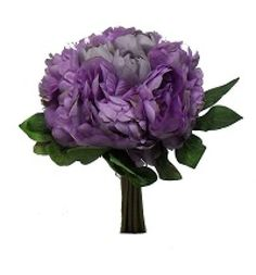 Lavender Peony Silk Flowers Wedding Bouquet Decoration Artificial New #Unbranded