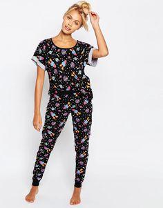 ASOS Space Print Tee   Legging Pajama Set at asos.com 0148fa5cf