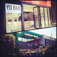 "Yo Bar @Indie Noms & Rambles's photo: ""#100happydays #100happydaysday12 #day12 44 degrees today! #Lunch time #frozenyoghurt, #massage and #shopping makes it more bearable! #froyo #harbourtown #yobar #hot #summer #melbourne"""