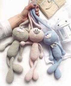 Mesmerizing Crochet an Amigurumi Rabbit Ideas. Lovely Crochet an Amigurumi Rabbit Ideas. Bunny Crochet, Crochet Baby Toys, Crochet Amigurumi, Amigurumi Doll, Diy Crochet, Crochet Crafts, Crochet Dolls, Crochet Projects, Tutorial Crochet
