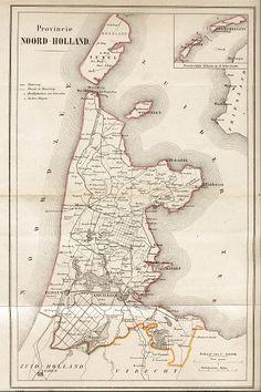 NOORD HOLLAND ATLAS 1868