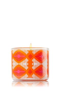 "Mango Dragon Fruit - Mini Candle - Bath & Body Works - Made using the highest concentration of fragrance oils and an exclusive blend of vegetable wax and lead-free wicks, this brightly patterned Mini Candle adds a tropical touch to your d�cor! Burns approximately 10-15 hours and measures 2""wide x 1 3/4"" tall."
