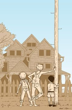 Illustration for a poster for the play To Kill a Mockingbird