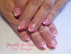 Entity Gel Polish - Pink and white tips - Done by Christine Ingalls of Sparkle and Fade Nail Design  https://www.facebook.com/SparkleAndFadeNailDesign