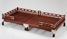 Wooden bed 침상 - 김영환 Oriental Furniture, Japanese House, Traditional Furniture, Furniture Inspiration, Asian Style, Wooden Furniture, Diy And Crafts, Woodworking, Architecture