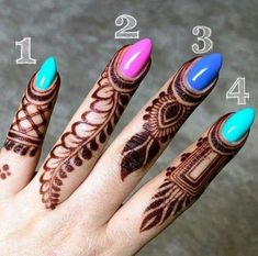 Cute Easy Henna Design Images Gallery - Cute Henna Design and Beautiful Nail For Girl Images Gallery. this is the most cute henna design for girl with Cute Henna Designs, Mehndi Designs Book, Finger Henna Designs, Mehndi Designs For Girls, Mehndi Designs For Beginners, Modern Mehndi Designs, Mehndi Designs For Fingers, Mehndi Design Pictures, Fingers Design