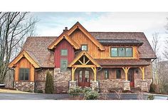 Looking for Mountain Rustic House Plans? America's Best House Plans offers the largest collection of quality rustic floor plans. Mountain House Plans, Mountain Living, Mountain Homes, Mountain Home Exterior, Mountain High, Bungalow House Plans, Craftsman Style House Plans, Rustic House Plans, Craftsman Lake House
