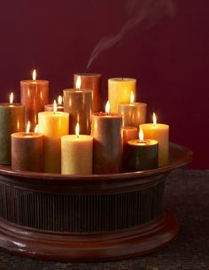 Romantic Pillar Candles by Blissliving Home