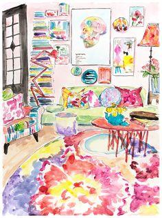 Art living room decor. Book art. Painting wall art pink. Sweet home art. Original painting acrylic. Modern room deco. Art gift. A3 size art