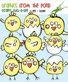 Scrappy Chick-a-Dee - Clipart for Teachers and Teaching