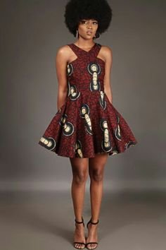 Paired with your cutest pair of heels, look ravishing in the Anathi Criss-Cross dress. Buy the latest Afrocentric women& fashion at Kuwala. Best African Dress Designs, Best African Dresses, African Print Dresses, African Attire, African Wear, African Fashion Dresses, African Design, African Style, Ankara Fashion