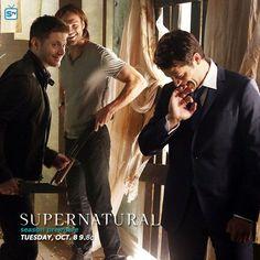 Supernatural - Season 9 - New BTS Promotional Photo with Jensen,Jared and Misha