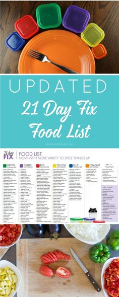 This expanded and updated 21 Day Fix food list is meant to help guide you through the 21 Day Fix program. There are updates being made all the time, so I'll pass them on to you when they happen! (healthy fit 21 day fix) 21 Day Fix Diet, 21 Day Fix Meal Plan, 21 Day Fix Foods, 21 Day Fix Menu, Clean Foods, Week Diet, 21 Day Fix Planner, 21 Day Fix Snacks, Night Snacks