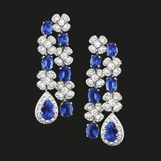 #sapphires #diamonds #earrings #nice #newellery #bluelovers #royalblue #beautifuldesign #instagood #highjewellery #instajewelry #mm_mucevhermagazin