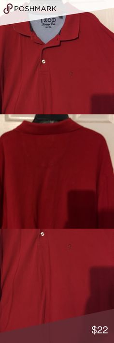 Men's IZOD polo shirt size XL tall Men's new polo style shirt from Macy's was originally $42 and is a beautiful red color and can be for casual wear or dress it up with a nice suit coat! Izod Shirts Polos