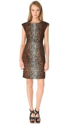 Derek Lam Giraffe Cap Sleeve Dress