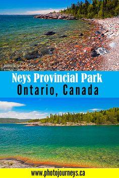 Highlights of Neys Provincial Park on Lake Superior, Ontario, Canada Ontario Camping, Ontario Travel, Ontario Parks, Canada Ontario, Alberta Canada, Ontario Provincial Parks, Canadian Travel, Canadian Rockies, Visit Canada