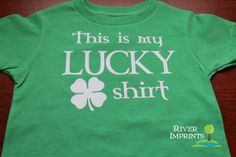 Toddler THIS is my LUCKY SHIRT, toddler boy or girl St Patricks Day tshirt