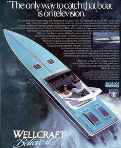 Miami Vice Wellcraft Boat