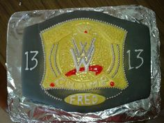 wwe wrestling championship belt birthday cake