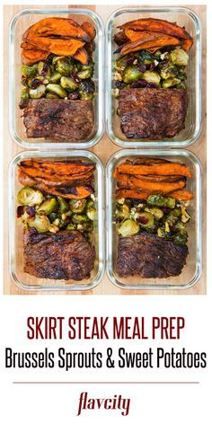 Skirt Steak Meal Prep by FlavCity Bobby Parrish paleo lunch ideas Easy Healthy Recipes, Lunch Recipes, Dinner Recipes, Meal Prep Dinner Ideas, Meal Prep Recipes, Easy Lunch Meal Prep, Meal Prep Plans, Paleo Recipes, Smoothie Recipes