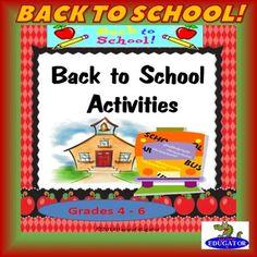 Back to School Activities - Printable Packet... by HappyEdugator   Teachers Pay Teachers