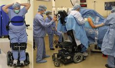 The inspirational doctor paralyzed from the waist who can still perform surgeries thanks to remarkable stand-up wheelchair        Read more: http://www.dailymail.co.uk/news/article-2513994/Paralyzed-doctor-performs-surgery-thanks-stand-wheelchair.html#ixzz2mFAKB96z