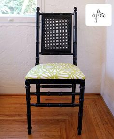 Black painted chair