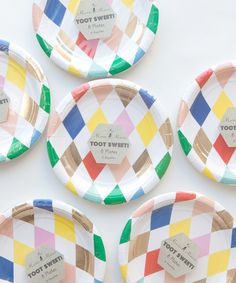 Harlequin Party Plates
