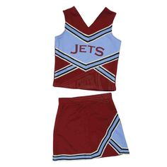 Jets Cheerleader Costume Jets Cheerleaders, Cheerleader Costume, Sports Equipment, Cheerleading, Two Piece Skirt Set, Costumes, Skirts, Dresses, Fashion