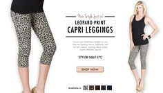 NB6137C Leopard Capri Leggings!