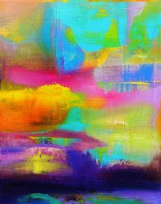 abstract art, acrylic painting, Take It Easy by Rick Heck
